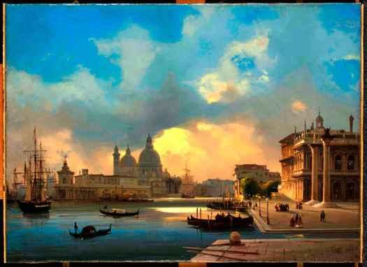 Ippolito-Caffi_Venezia_Il-Molo-al-tramonto_1864