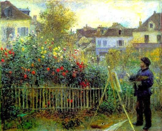 Claude-monet-dipinge-nel-suo-giardino-argenteuil-analisi