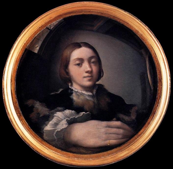 Risultati immagini per Parmigianino, Autoritratto allo specchio, 1524,