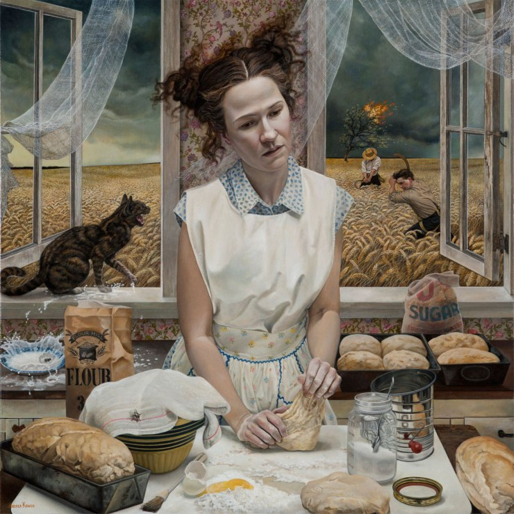 Andrea-Kowch-_-In-the-Distance_-Limited-Edition-of-10-Hand-Signed-Print-36-x-36-framed-50.5-x-50.5-5500-